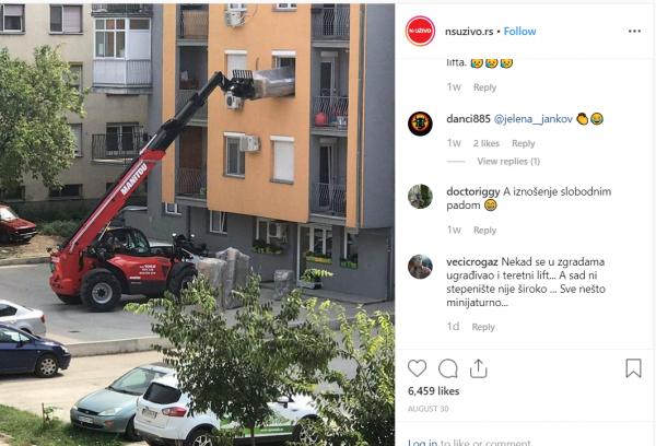 Rezultat slika za Hit Selidba U Srbiji: Svi Su Izašli Na Prozor I Slikali Ih, Kada Pogledate Dole Sve Će Vam Biti Jasno